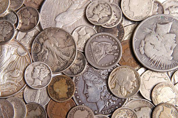 antique change - 硬幣 個照片及圖片檔