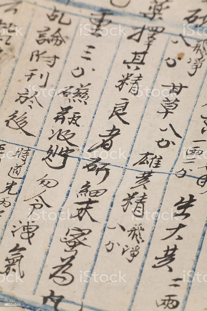 antique chinese book page royalty-free stock photo
