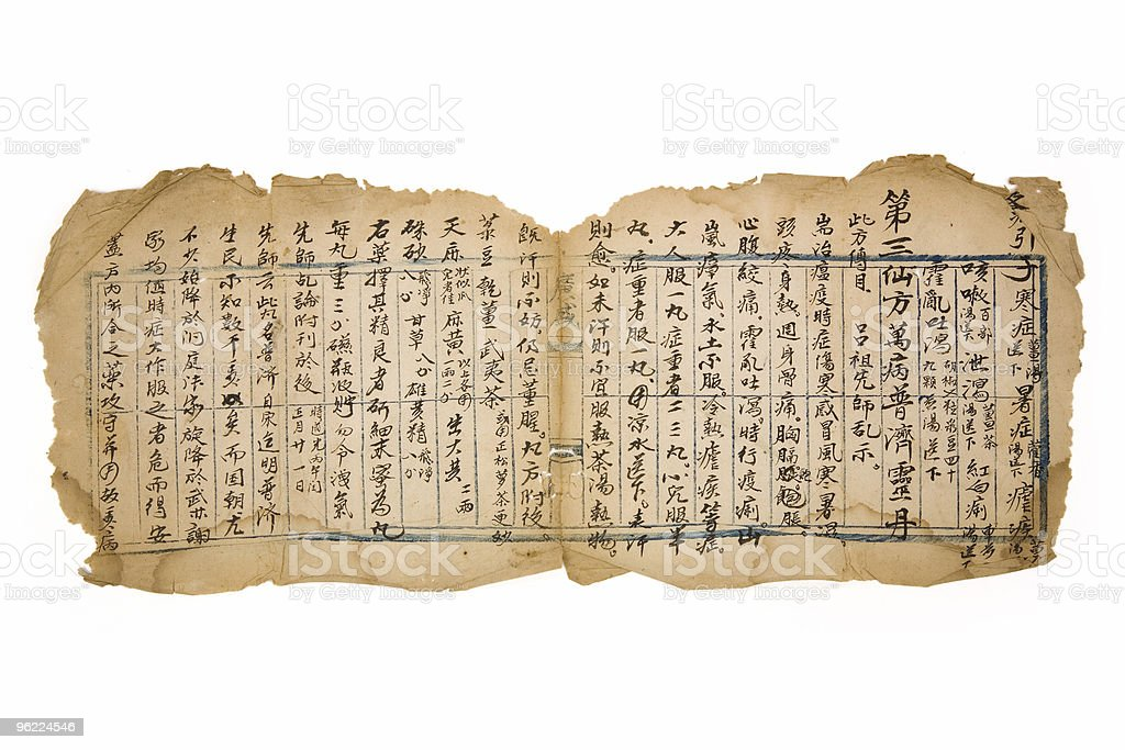 antique chinese prescription royalty-free stock photo