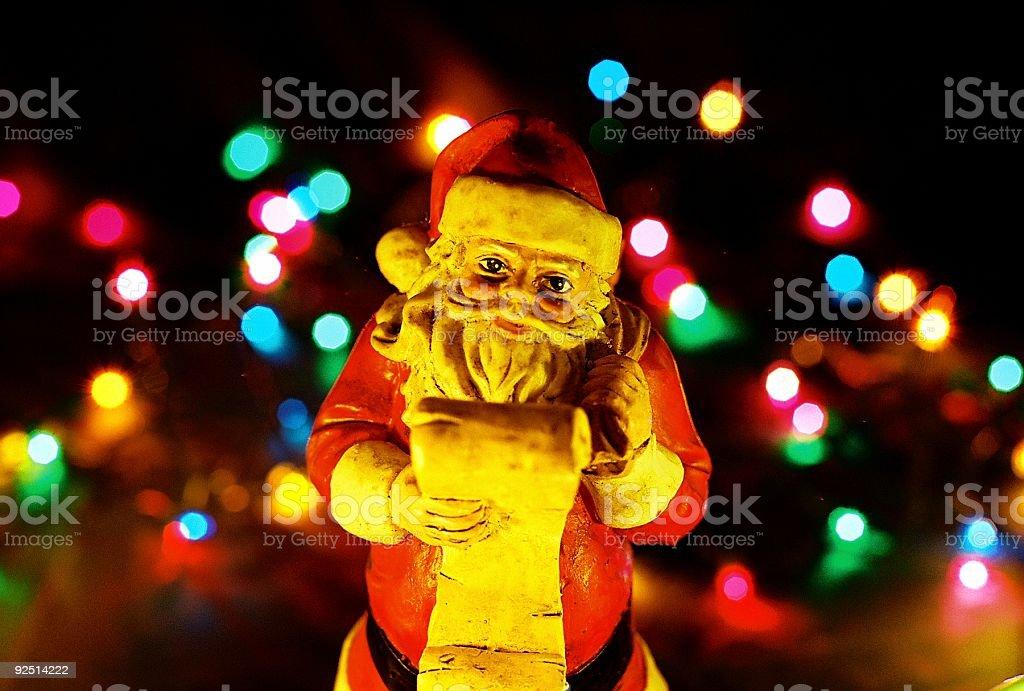 Antique Christmas  Santa Claus royalty-free stock photo