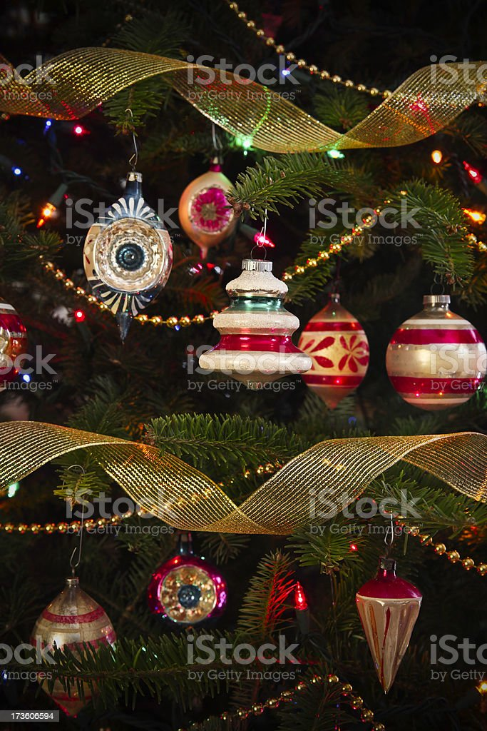 Antique Christmas Tree Ornaments Stock Photo Download Image Now Istock