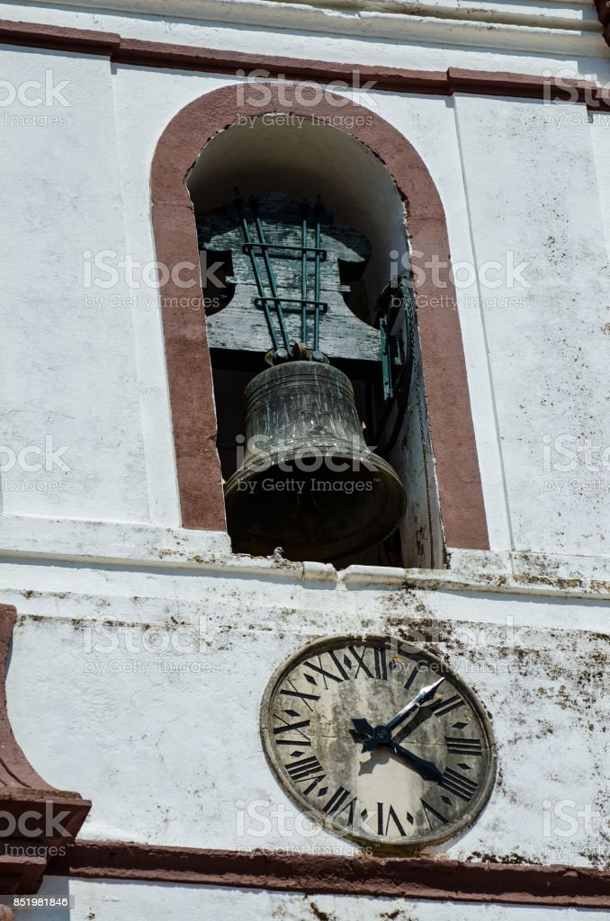 Antique Church Bell stock photo