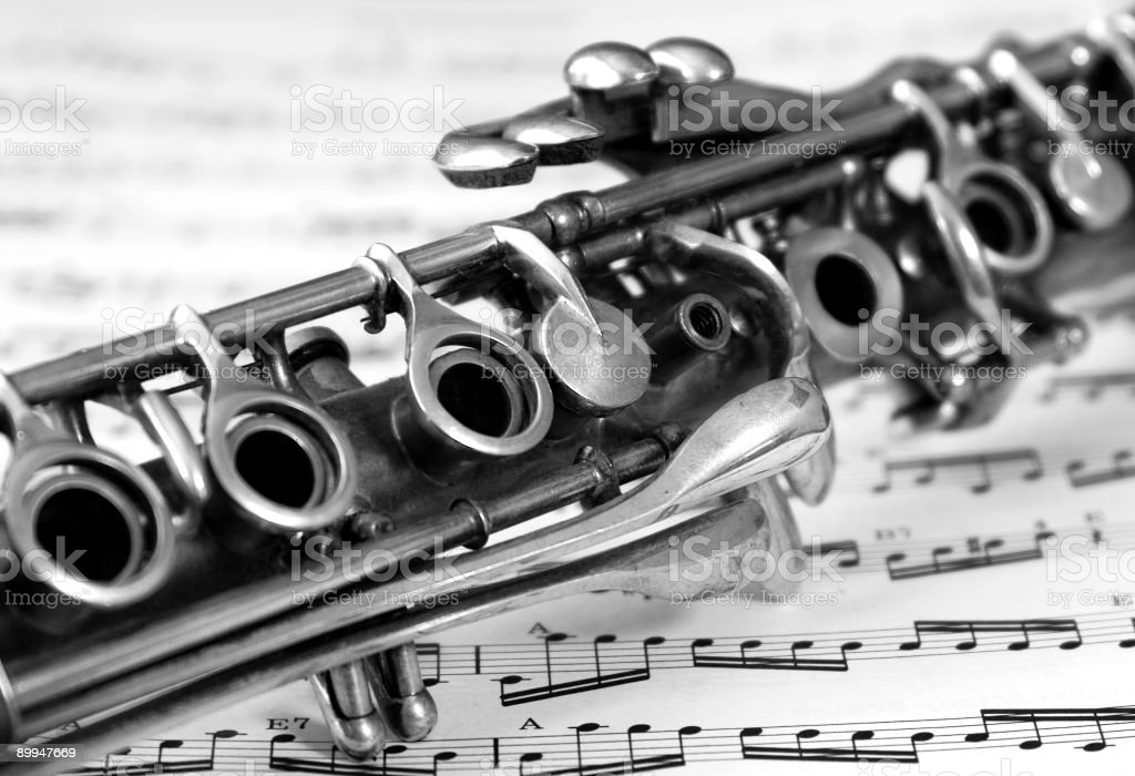 Antique Clarinet royalty-free stock photo