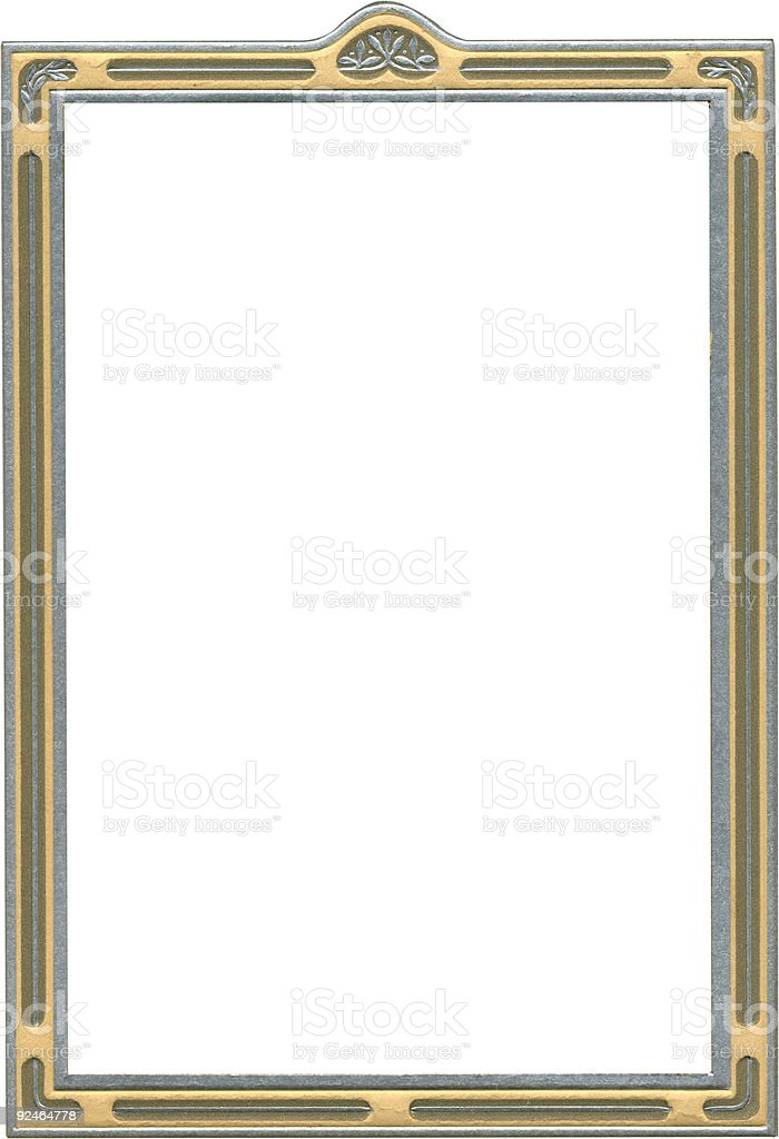 Antique classic silver frame royalty-free stock photo
