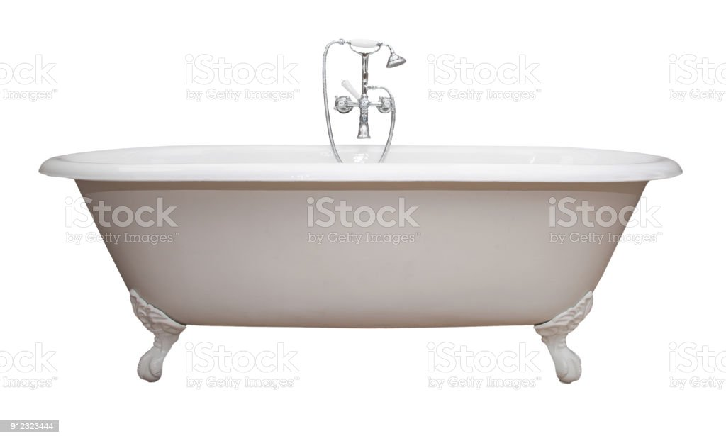 Antique Claw Foot Tub Isolated Copy Stock Photo & More Pictures of ...