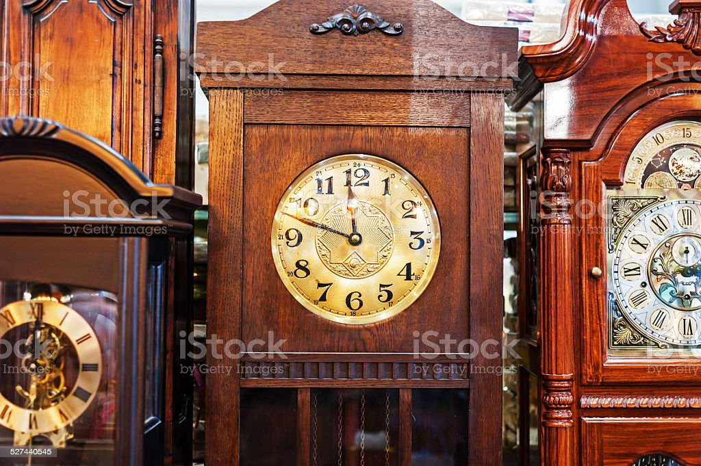 Antique Clock old time passing stock photo