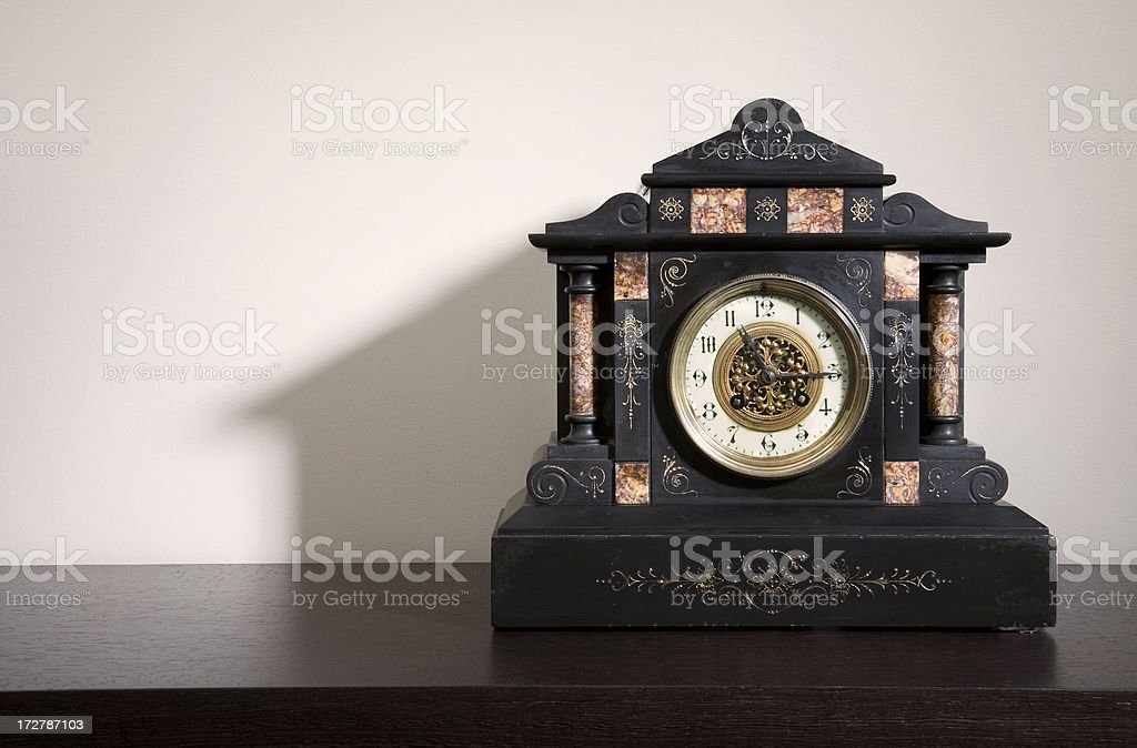 antique clock with copy space