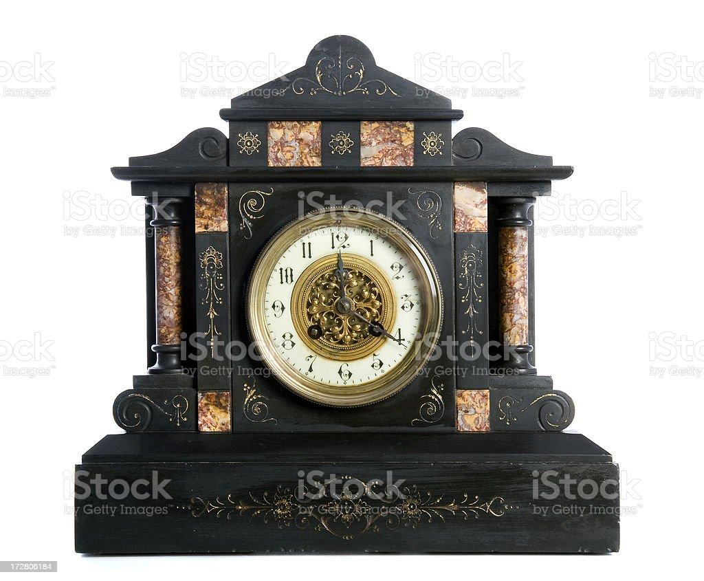 antique clock royalty-free stock photo