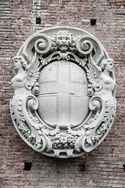 アンティークの紋章の彫刻 ストックフォト