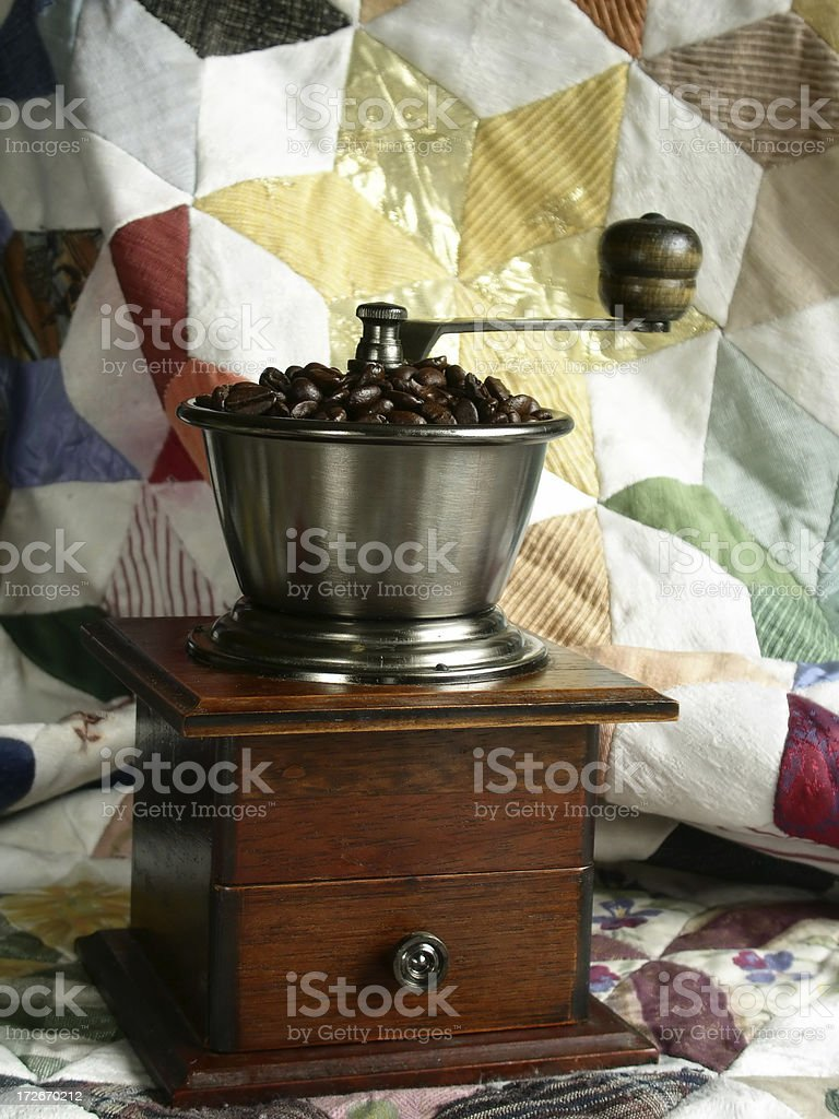 Antique Coffee Grinder royalty-free stock photo