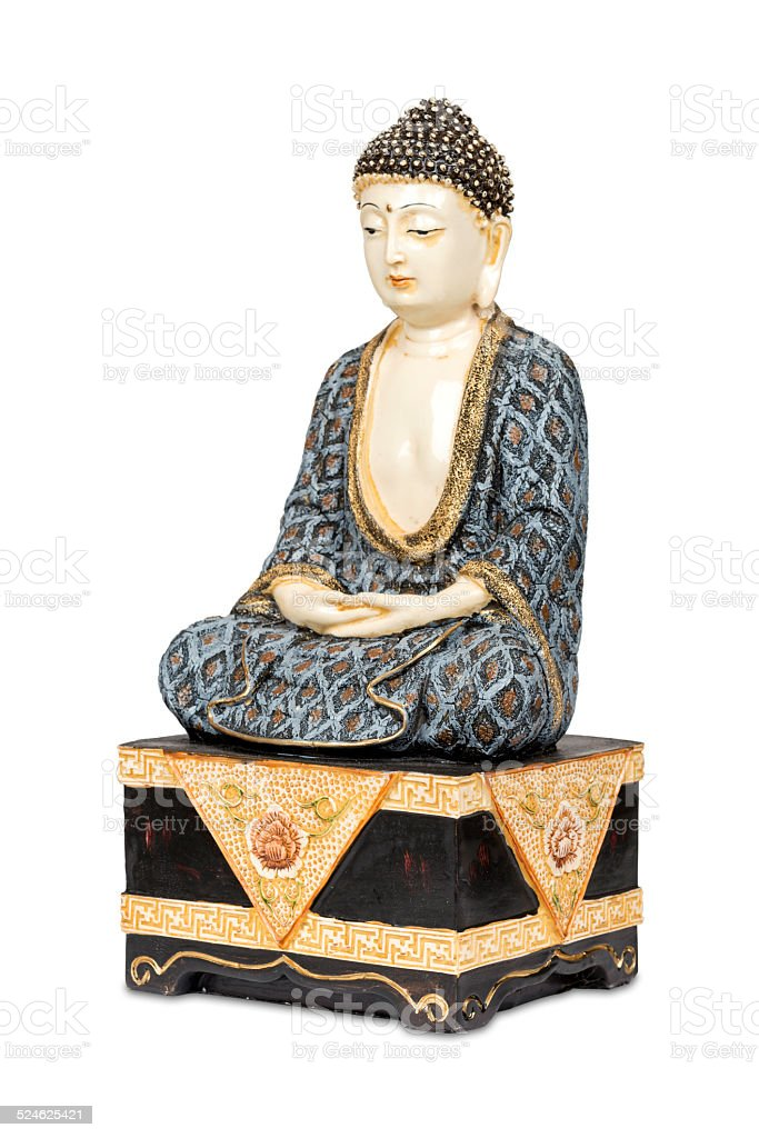 Antique colorful Buddha stock photo