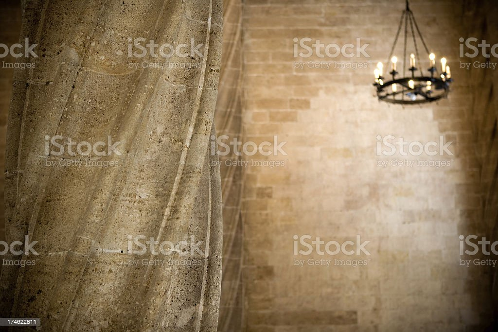 Antique column of la Lonja royalty-free stock photo