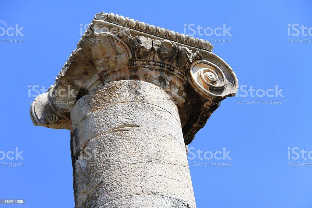 Antique column stock photo
