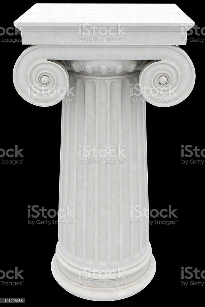 Antique column. XXXL royalty-free stock photo