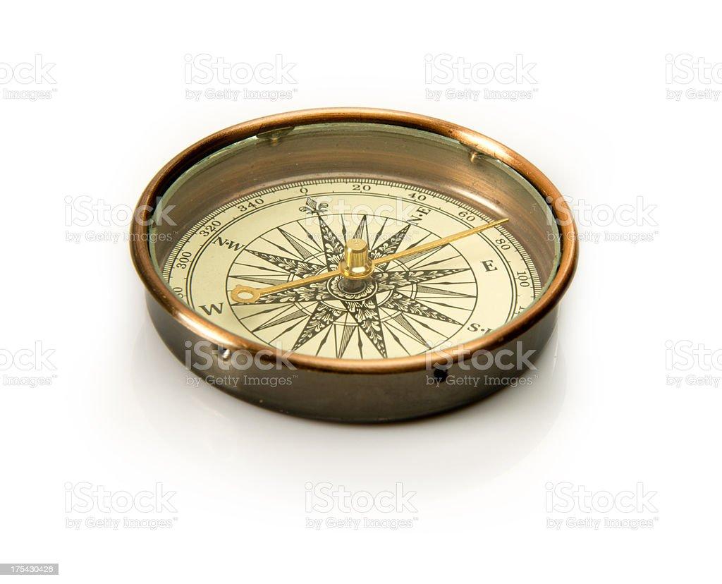Antique Compass stock photo