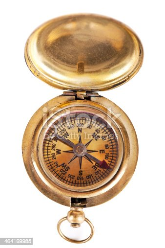istock Antique compass 464169985