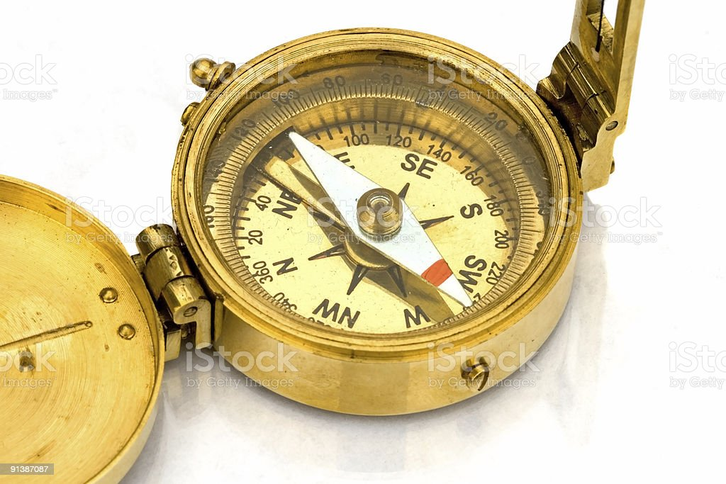 Antique Compass royalty-free stock photo