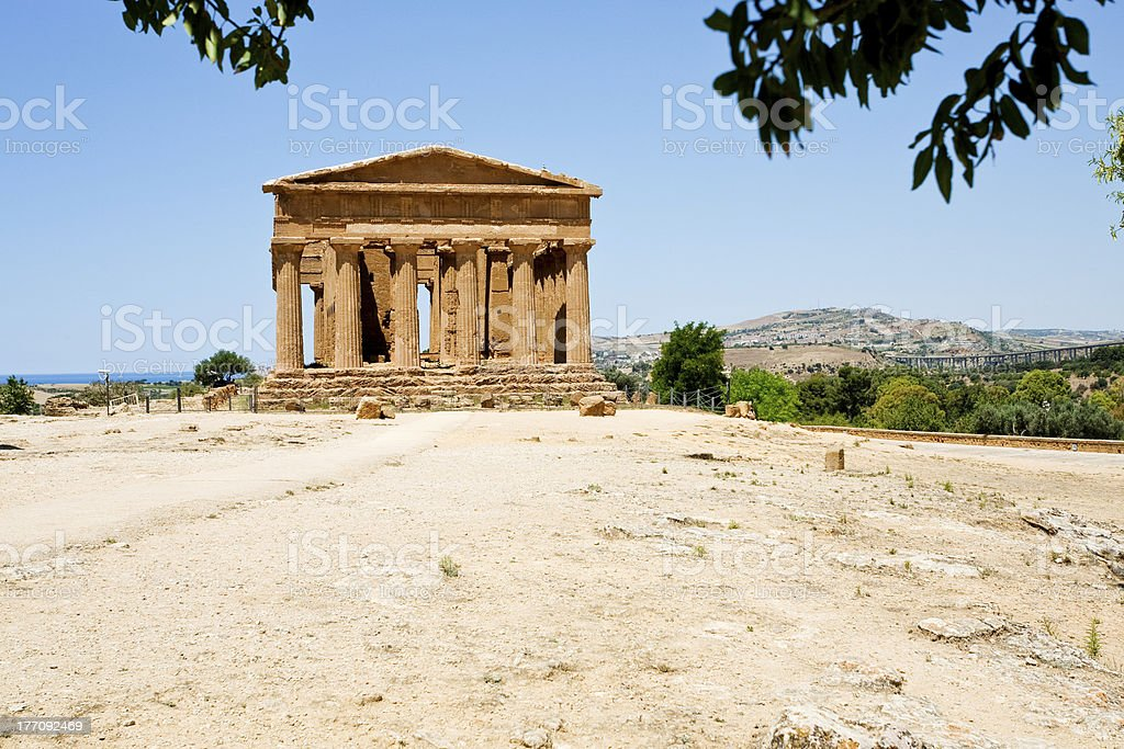 antique Concordia Temple in Valley of the Temples royalty-free stock photo