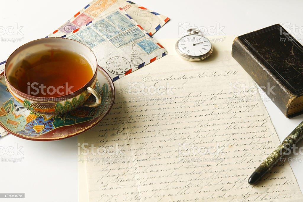 Antique correspondence royalty-free stock photo