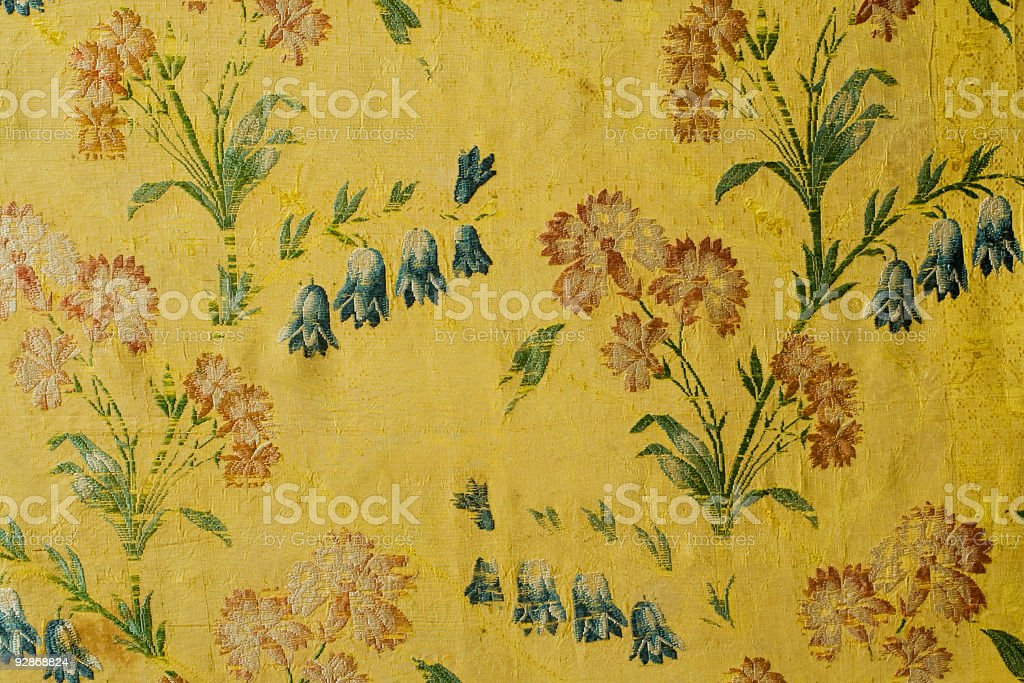 Antique  decorated fabric background. royalty-free stock photo