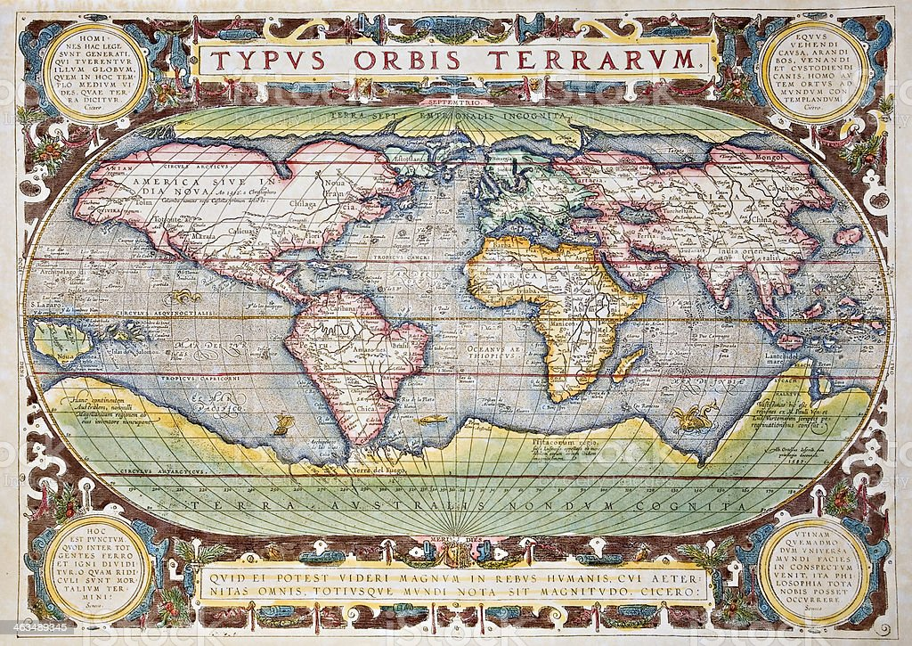 Antique Decorative World Map Stock Photo - Download Image ... on vintage world map, ceramic world map, bedding world map, interior world map, simple world map, ornate world map, seasonal world map, jewelry world map, security world map, solar world map, repositionable world map, fluorescent world map, videogame world map, rounded world map, plants world map, miniature world map, illustration world map, mythological world map, nature world map, distressed world map,