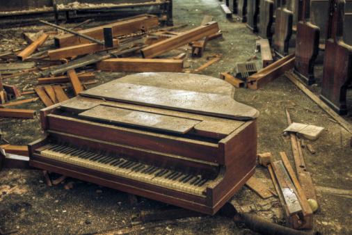 Antique Derelict Piano