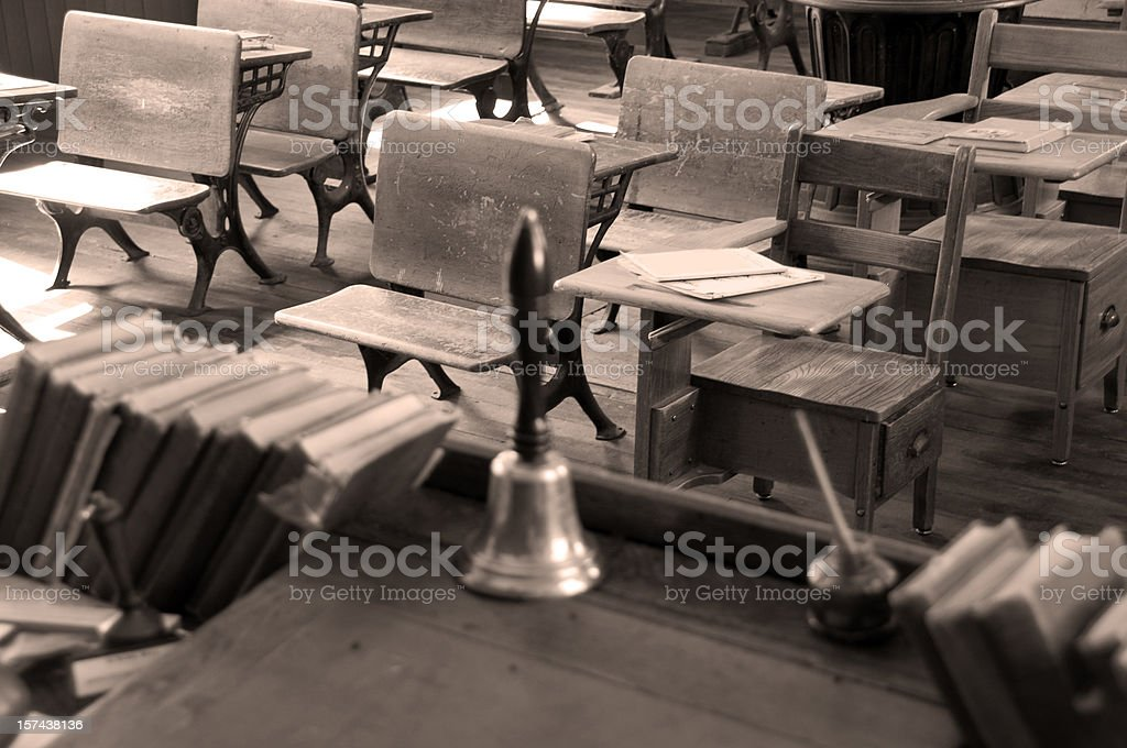 Antique Desks in Sepia royalty-free stock photo