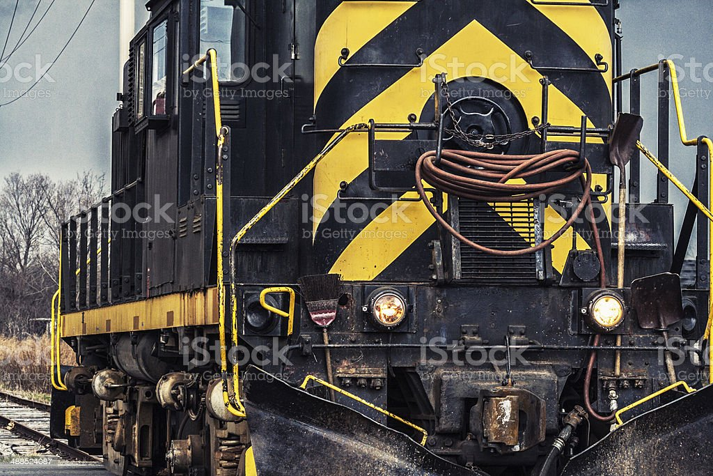 Antique Diesel Locomotive Close-Up royalty-free stock photo