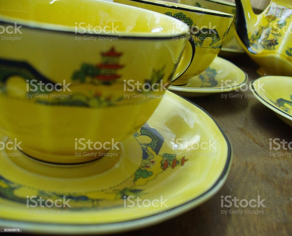 Antique dishes royalty-free stock photo