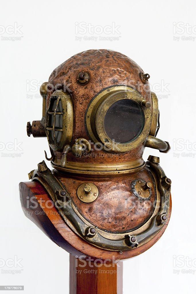 Antique diving helmet stock photo