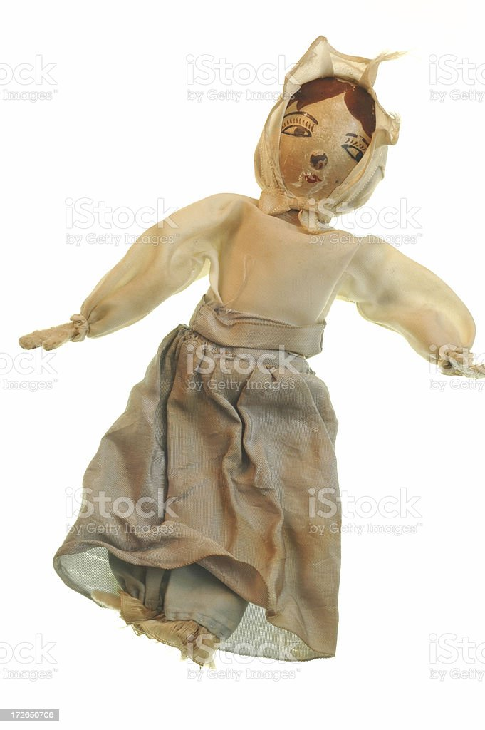 Antique Doll Circa WWII royalty-free stock photo