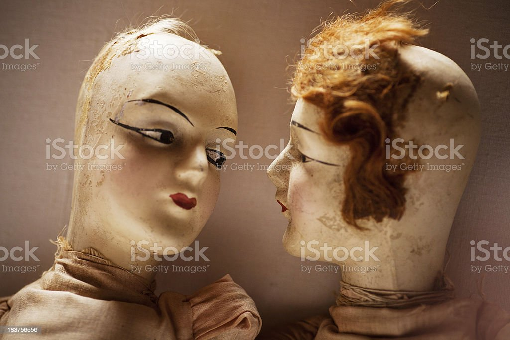 antique dolls stock photo