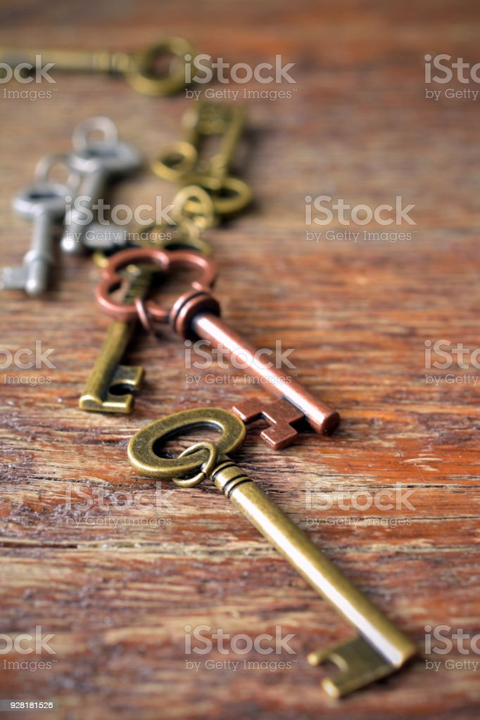 Antique Door Keys royalty-free stock photo - Antique Door Keys Stock Photo & More Pictures Of Accessibility IStock