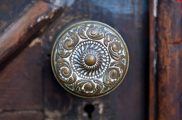 antigo maçaneta de porta - maçaneta manivela - fotografias e filmes do acervo