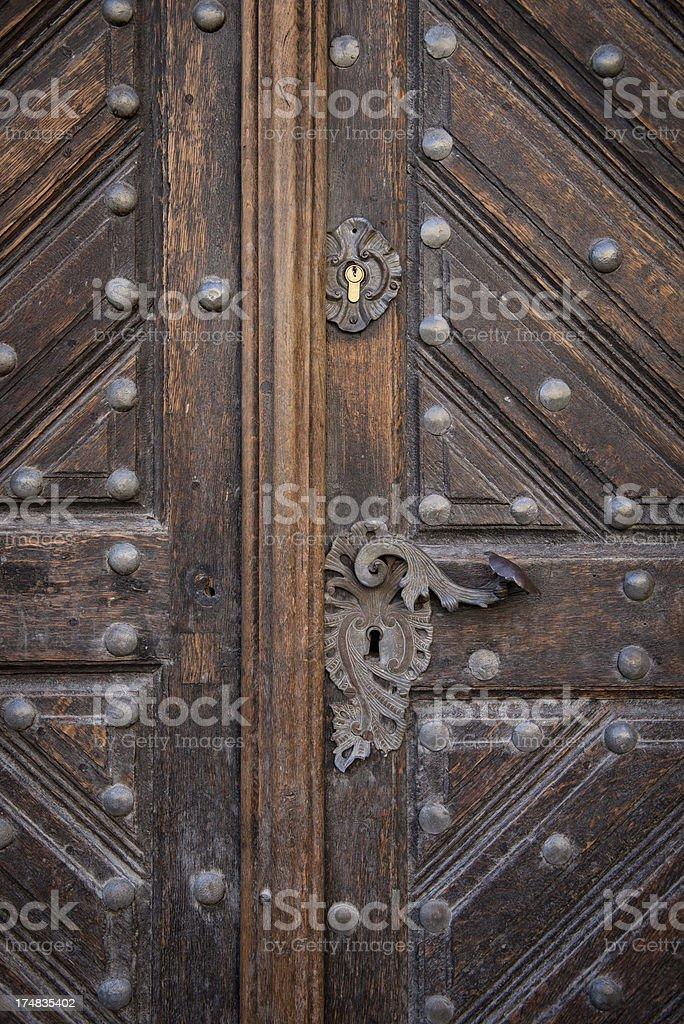 Antique Door Knob royalty-free stock photo