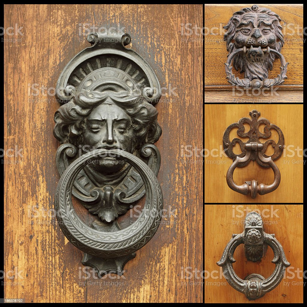 Picture of: Antique Door Knockers Collage Stock Photo Download Image Now Istock