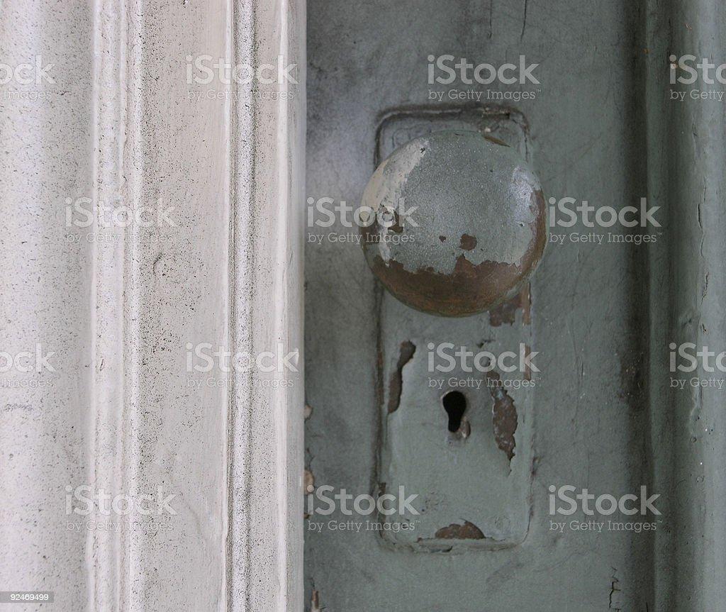 Antique Doorknob stock photo