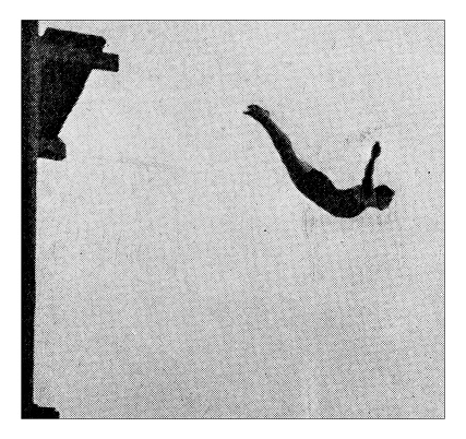Antique dotprinted photograph of Hobbies and Sports: Diving