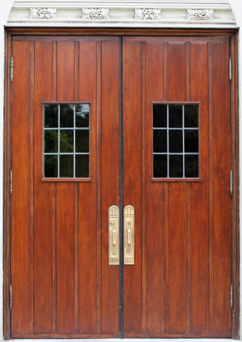 Antique Double Doors Stock Photo - Download Image Now