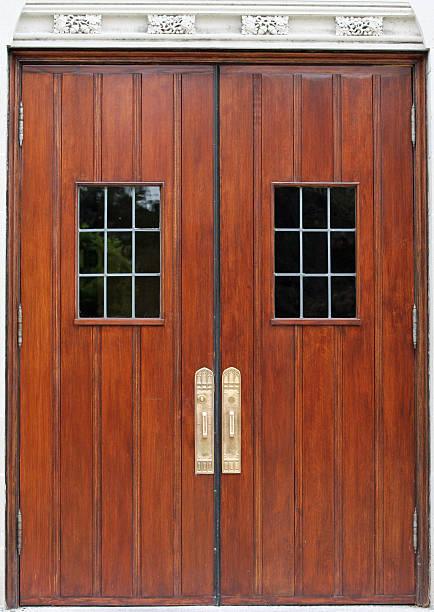 Antique Double Doors stock photo