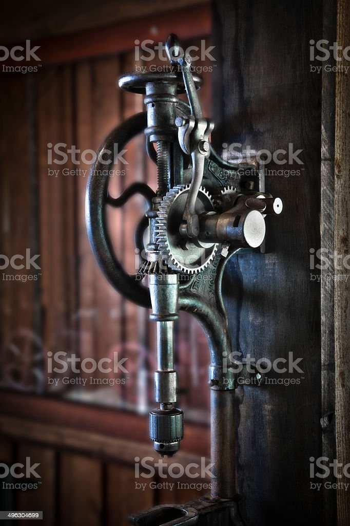 Antique Drill Press royalty-free stock photo