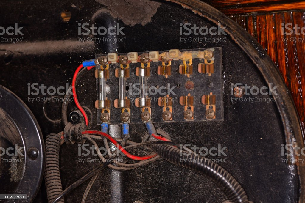 Antique Electrical Fuse Box On Antique Vehicle Door Detail Stock Photo -  Download Image Now - iStockiStock