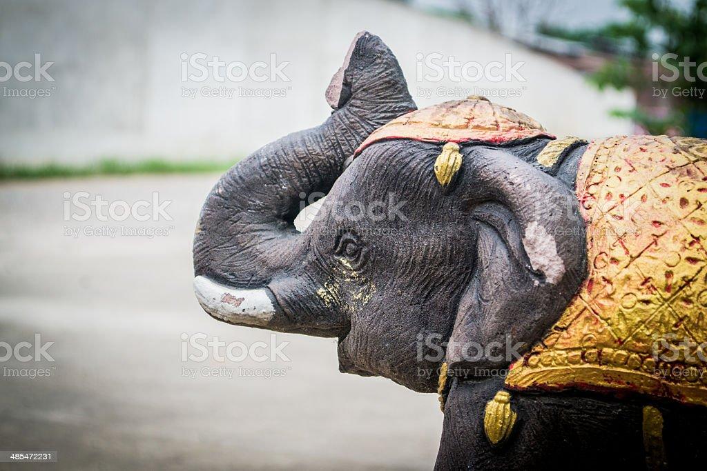 Antique elephant pottery royalty-free stock photo