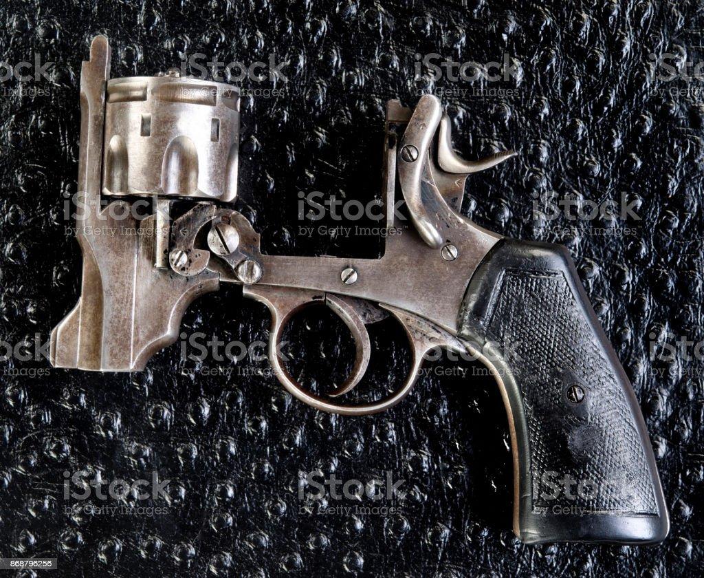 Antique English 455 pistol. stock photo
