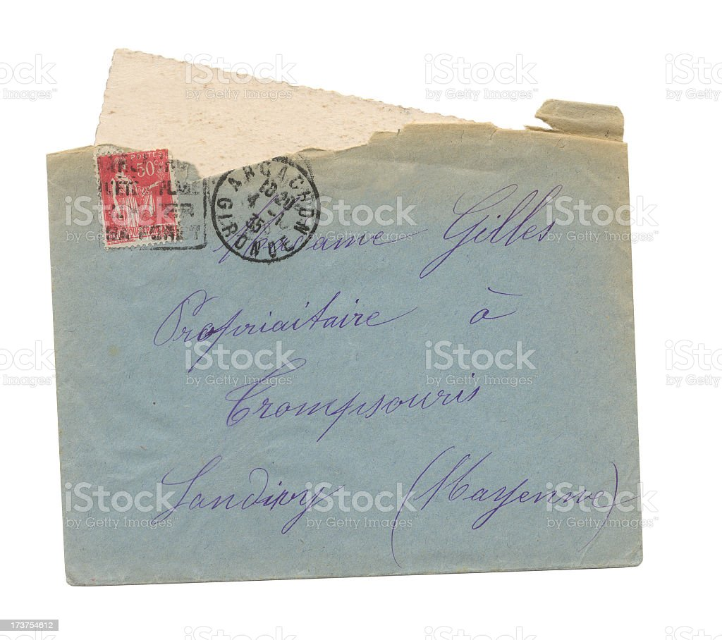 Antique envelope with Letter royalty-free stock photo