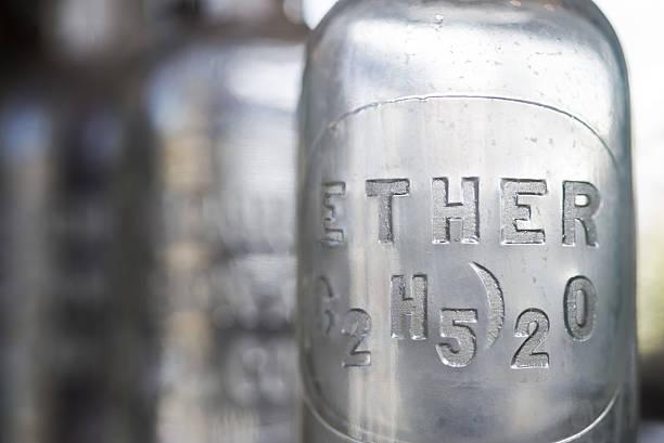 antique ether bottle - éther photos et images de collection