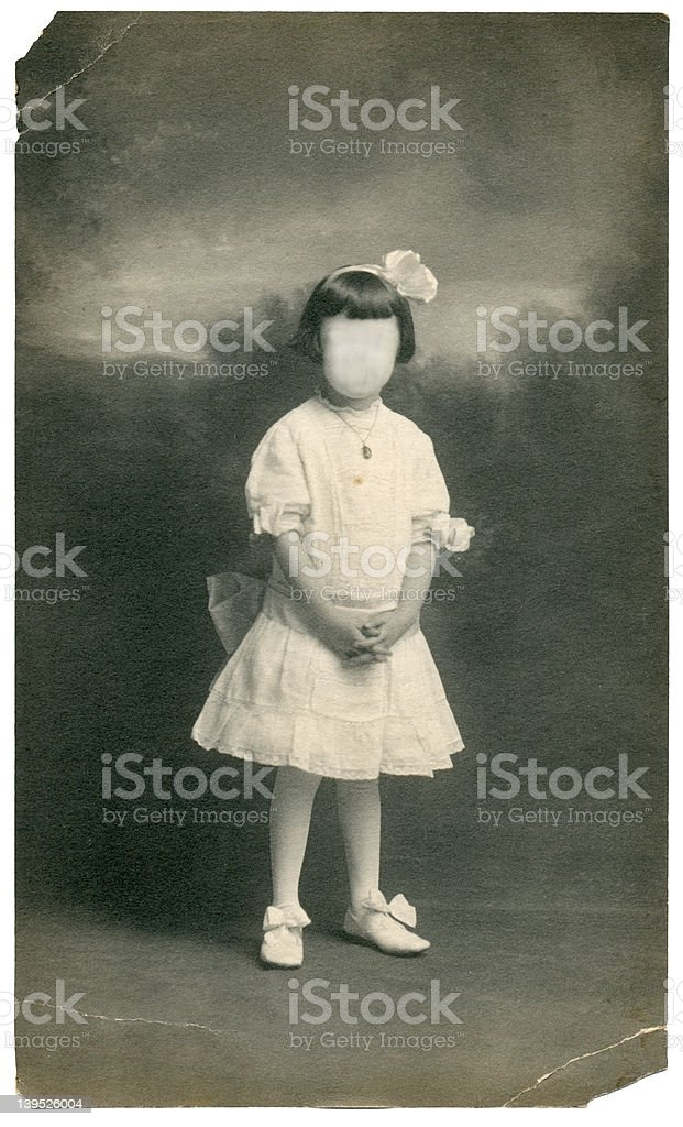 Antique faceless girl royalty-free stock photo