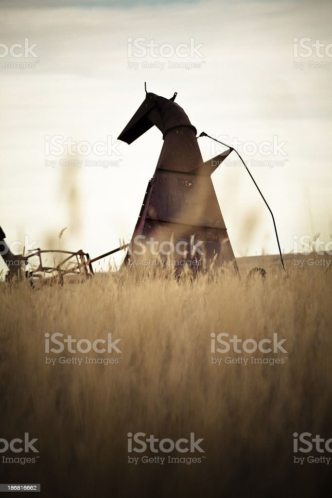 Antique Farm Equipment stock photo