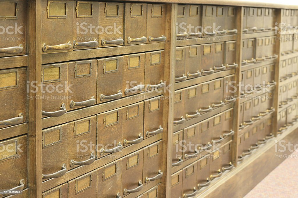 Antique file cabinet royalty-free stock photo