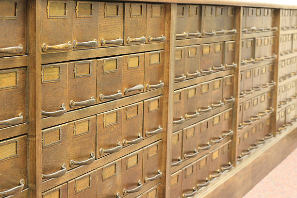 Antique file cabinet  anachronistic stock pictures, royalty-free photos & images